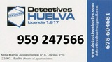 Investigador Privado. Huelva. Lic 1917 - foto