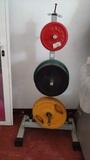 Lote discos barras y steps - foto