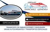 TRANSPORTE DE BARCOS GRÚAS S. G - foto