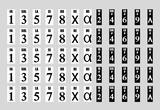 Pegatinas numeradas para el piano. - foto