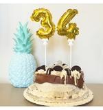 Topper tarta globo número 0-9 2,50 euros - foto