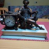 Reloj frances de bronce - foto