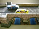 Diorama para Scalextric puente piedra - foto