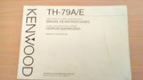 manual de instrucciones kenwood th -79 - foto
