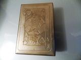 caja metal antigua para baraja cartas - foto