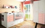 Habitacion de bebe con cuna y armario aq - foto