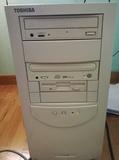 Ordenador toshiba + teclado + monitor - foto