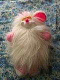 Ratón de peluche blanco - foto
