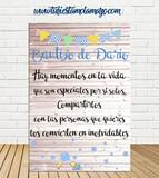 Cartel Bienvenida de Bautizo - foto