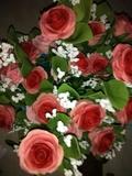 Rosas de miga de pan - foto