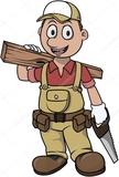 Carpintero de madera - foto