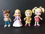 Lote 4 muñecas PVC o goma desmontables - foto