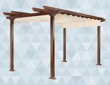 Pergola TRES PUNTS imitaciÓn madera - foto
