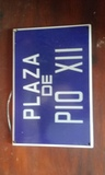 15 euros placa de calle esmaltada - foto