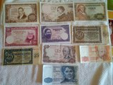 Lote 10 billetes antiguos - foto