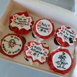 Cupcakes con mensajes - foto