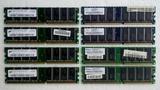8 memory rams ddr400 256mb = 4gb - foto