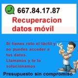 Recuperación datos del móvil - foto
