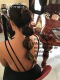 Estilista peluquera y maquilladora - foto