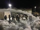 Fiesta de la espuma, cañón de espuma - foto