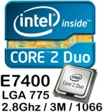 775 DualCore Intel Core 2 Duo E7400, - foto