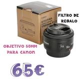 Objetivo 50mm para canon - foto