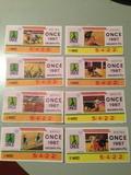 Boletos de la ONCE - 1986-87 - foto
