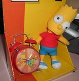 Muñeco y despertador de Bart - foto