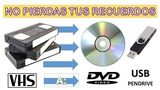 vhs,  minidv, dvd, digital paso cintas - foto