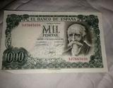 Billete de 1000 pesetas - foto