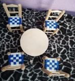 Lote muebles madera muñecas - foto