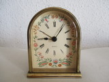 antiguo reloj despertador,bronce,germany - foto