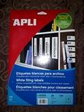 Etiquetas blancas para archivo Apli - foto