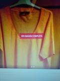 --// jersey de punto fino color naranja - foto