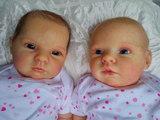 Bebes reborn muñecas casi real mellizas - foto