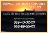¡ALQUILER DE TRASTEROS! - foto