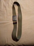 --// cinturon   de loneta verde caqui - foto