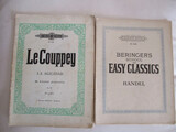 2 antiguas partituras: le couppey,handel - foto