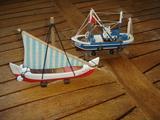 Maquetas barcos pesqueros madera - foto