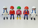 Lote Patinadores Playmobil Equipo - foto