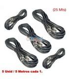 5 cables de 5 mts / de xlr hembra a xlr - foto