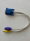 Cable Adaptador VGA a RCA + S-Video - foto