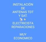 Instalación antenas tdt sat electricidad - foto