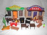 Playmobil oeste far west banco sheriff - foto