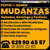 Mudanzas en Madrid Portes Económicos - foto