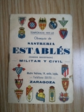 Calendario de Liga 1959-1960\nSASTRERIA - foto
