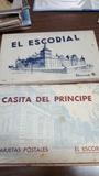 2 antiguos postales bloc. escorial - foto