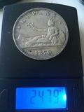 5 pesetas de plata 1870 - foto