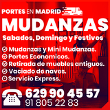 Mudanzas en Madrid y Portes con elevador - foto