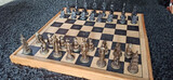 ajedrez tabla de madera maleta - foto